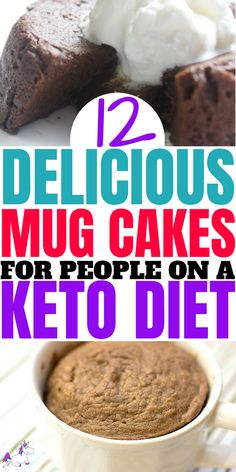 fitness - 12 Delicious Keto Mug Cakes That Will Keep You In Ketosis (And Satisfy Your Sweet Tooth) The Mummy Front Low Carb Meal Plan, Low Carb Lunch, Low Carb Dinner Recipes, Low Carb Desserts, Easy Desserts, Dessert Recipes, Easy Sweets, Healthier Desserts, Lunch Recipes