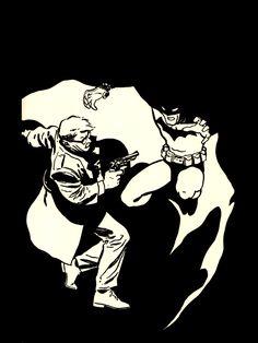 Batman and Gordon The earth one 1987 Dc comics