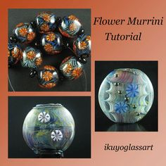 Tutorial: How to Make Japanese Style Flower Murrini and How to Apply it to Your Beads by Ikuyo. $10.00, via Etsy.