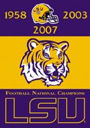 Louisiana State University Tigers ROAR Official NCAA Logo Poster  -available at www.sportsosterwarehouse.com