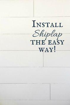 Installing shiplap d