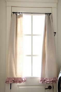 Love the ruffles on these simple curtains