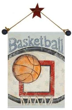Basketball Hand Painted Canvas Banner