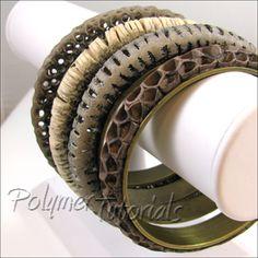 Bracelets Tutorial Openwork, Polymer Tutorials