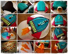 Rocket Cake- Easy steps to follow