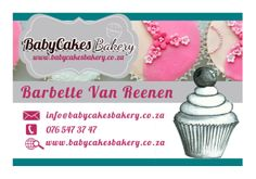 My Business Card Back www.babycakesbakery.co.za Business Cards, Place Cards, Bakery, Place Card Holders, Christmas Ornaments, Holiday Decor, Xmas Ornaments, Visit Cards, Bakery Shops