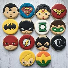 DC Heroes. . . #creeativecookies #dc #dccomics #dcheroes #dccookies #superheroes #superherotheme #superherocookies #birthdaycookies #charactercookies #supermancookies #wonderwomancookies #superman #wonderwoman #batman #catwoman #theflash #greenlantern #aquaman #decoratedcookies #customcookies #edibleart #cookiesofinstagram #cookiedecorating #NOTTAKINGORDERS #tilfurthernotice #thankyou