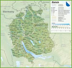 Canton of Nidwalden map with cities and towns Maps Pinterest