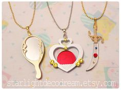 Sailor Uranus Space Sword Talisman Sailor Moon Inspired Fanart Acrylic Necklace for Mahou Kei, Magical Girl Lover Fashion