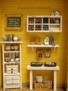 Evangelione: The sewing material store  Amazing blog with a lot of tutorials for miniature furniture!!!