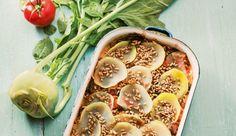 Die besten Rezepte ohne Kohlenhydrate: Kohlrabi-Hack-Lasagne