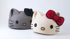ハローキティとCa4laがコラボした「立体ベレー帽」がキティさんすぎる / 頭部がキティさんになった気分を味わえそう!
