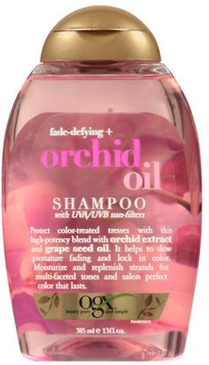 OGX Fade-Defying + Orchid Oil Shampoo Bleach Damaged Hair, Drugstore Shampoo, Natural Hair Shampoo, Hair Products, Beauty Products, New Cosmetics, Best Shampoos, Body Hacks, Bleached Hair