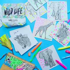 Sakroots Neon Wild Life with Convertible Clutch
