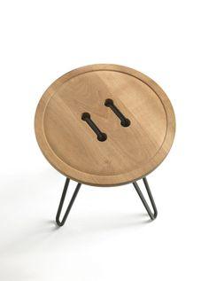 Round solid wood coffee table BUTTON by @riva1920  | design Mattia Albicini, Luca Martorano