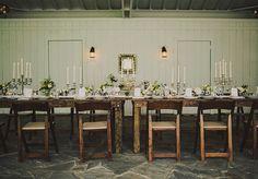 Rustic Nashville wedding | photo by Ariel Renae Photography | 100 Layer Cake - love the candelabras #cedarwoodweddings