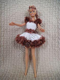 tutorial free barbie: dress Fawn Golden snow