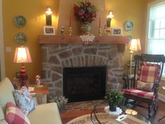Touring with my clients this home for sale in Scott Twp. <3 Fireplace