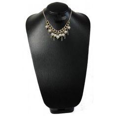 Collar de Moda con Perlas y Cadena de Aluminio