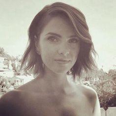 Shelley Hennig--- short hair