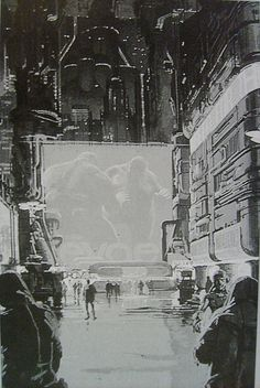 rare Syd Mead Blade Runner concept art