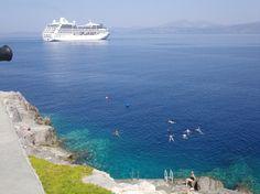 The Azamara Quest in Hydra, Greece