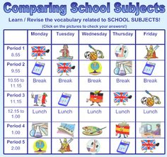 Image Result For Designs For Time Table Charts  Class C