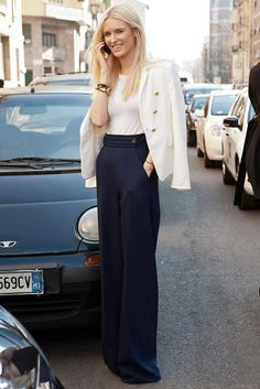 Kate. Love these wide leg pants
