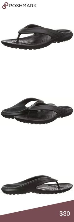 CROCS MEN'S FLIP FLOPS SIZE 13 NWT! Brand new with tags attached.  Men's size 13 Black Crocs Flip Flops!  Thanks for stopping by! Please follow me as I add new items regularly to my closet!   Make an offer or a bundle for additional savings! CROCS Shoes Sandals & Flip-Flops