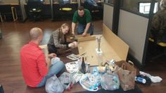 The Weekend Warriors, one of the teams at Intelicare Direct, is starting work on their Earth Day project at the office. The title of their work is Pacific Patch Awareness.