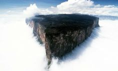 Mount Roraima, two billion years in making, is surrounded by 400m tall cliffs on ALL sides! This mountain's location – in South America – forms a triple border with Brazil, Venezuela and Guyana. It forms the highest peak of Guyana's Highland Range.
