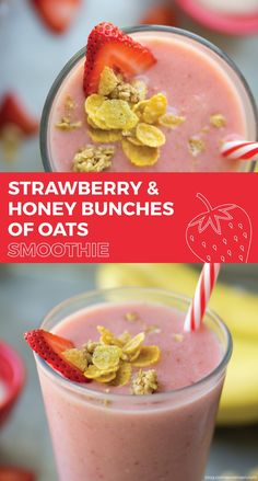 What better way to start off your morning than with a deliciously fruity smoothie? Try this recipe for an easy strawberry smoothie, made with your favorite breakfast cereal!