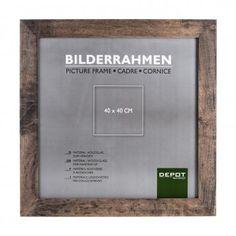 Bilderrahmen 40x40cm, Gummibaum/C, braun