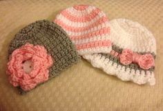 Newborn Girl Crochet Hat  I think I can make the scalopped edge on my loom...experiment.