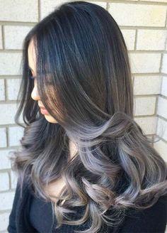 Silver Balayage Hairstyle