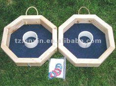 Wooden ring toss game Giant outdoor game