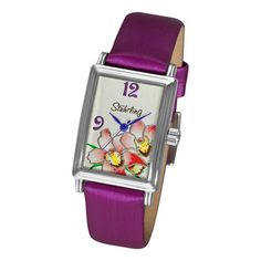 @Overstock - With a beautiful violet band and small case size, this floral Swiss Quartz watch makes a delightful gift for a young lady in your life. Within its stainless-steel case is a colorful dial bursting with flowers, and even its watch hands are bold purple. http://www.overstock.com/Jewelry-Watches/Stuhrling-Original-Womens-Botanica-Girl-Swiss-Quartz-Watch/6348987/product.html?CID=214117 $66.99