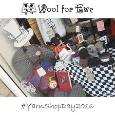 "Wool For Ewe @WoolforEwe http://woolforewe.com/ ""Have you seen our fab Mad Hatters Tea Party window display for #yarnshopday? @Letsknitmag @BritishWool #shoplocal"""