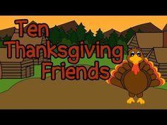 10 Thanksgiving Friends - Fun Thanksgiving Songs for Kids - Thanksgiving Kids Songs Preschoolers