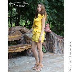 Платье из войлока. Комплект одежды Мелодия очарования. Войлок. - жёлтый
