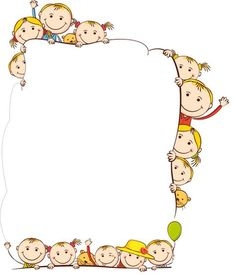 34 Free borders and frames - Aluno On Borders For Paper, Borders And Frames, School Border, Art For Kids, Crafts For Kids, Kindergarten Portfolio, Kids Background, School Frame, Border Design