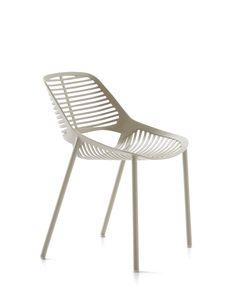 NIWA collection. Chair Powder Grey / Sedia Grigio Polvere. FAST IN_OUT_ALUMINIUM