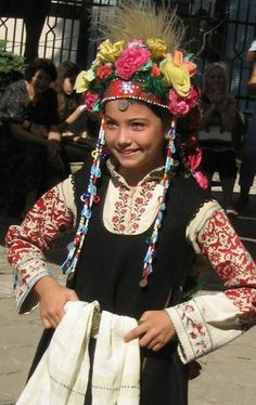Lazarka from Sofia.This is celebration of St Lazarustraje regional Bulgaria