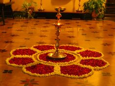 Big list Flower Rangoli Designs ideas and pictures for this ganesh chaturthi or any other Indian festivals. Learn flower rangoli designs for competition with flowers. Rangoli Designs Flower, Rangoli Patterns, Colorful Rangoli Designs, Rangoli Ideas, Rangoli Designs Diwali, Rangoli Designs Images, Diwali Rangoli, Flower Rangoli, Rangoli With Flowers