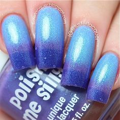 NEW-Grape to Meet You-Color Changing Thermal Nail Polish:  Custom-Blended Indie Glitter Nail Polish / Lacquer on Etsy, $6.50