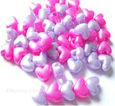 Heart Beads for Valentine's Crafts