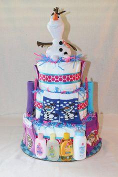 Disneys Frozen Olaf Diaper Cake By Mckaycakesncrafts On