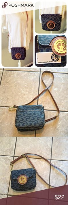 """NWT Grace Original by Chateau Crossbody Bag Brand new with tags cross body Chateau bag. Never used, very cute and fits everything perfectly. Adjustable strap, longest setting is 31"""". Man made materials. Made in China. Chateau Bags Crossbody Bags"""