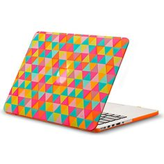 Kuzy - Case for Older MacBook Pro with Retina Display & Shell Rubberized Hard Cover - Triangle Orange Macbook Pro 13, Macbook Pro Decal, Macbook Air 13 Inch, Macbook Case, Macbook Accessories, Computer Accessories, Triangles, Shell, Retina Display