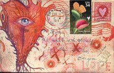 Voir carte postale coeur
